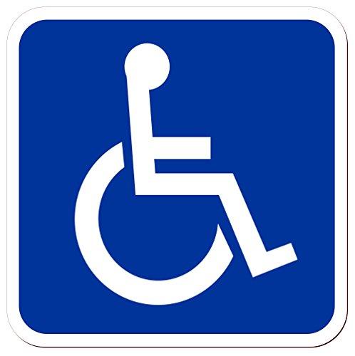 Magnetschild Beförderung von Menschen mit Behinderungen | Schwerbehinderten-Transport...