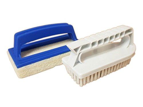 Pool Reinigungsset 2 teilig Bürste und Schwamm - Reinigungsbürste Reinigungsschwamm