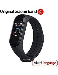 Versione Globale Xiaomi Band 4 Smart Band Color Screen Braccialetto Frequenza cardiaca Fitness Musica Bluetooth 5.0 50M Impermeabile,contapassi e notifiche di messaggistica,Android e iOS -Grafite Nero