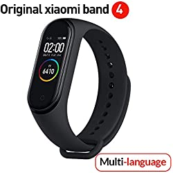 Versión global Xiaomi Banda 4 inteligente Pantalla a color Pulsera Frecuencia cardíaca Gimnasio Música Bluetooth5.0 50M Impermeable,Podómetro y notificaciones de mensajería