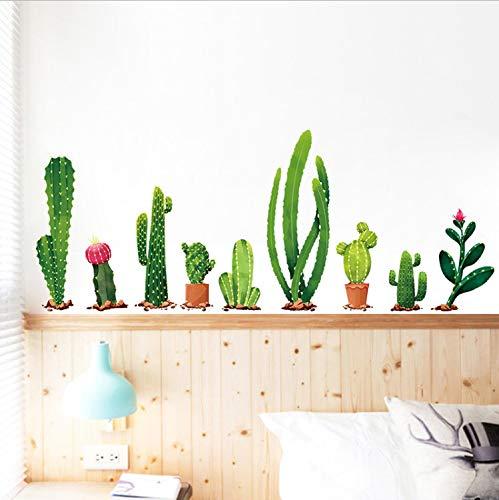 Smntt Viele Arten Von Kakteen Grüne Pflanzen Wandaufkleber Wohnzimmer Schlafzimmer Hintergrund Dekoration Wandtattoo Wanddekor Tapete