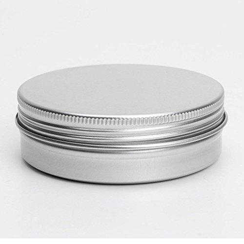 Conteneurs cosmetiques - TOOGOO(R) 50 x conteneurs cosmetiques vides couvercle a vis du recipient jar levre pot de baume en aluminium 150ml