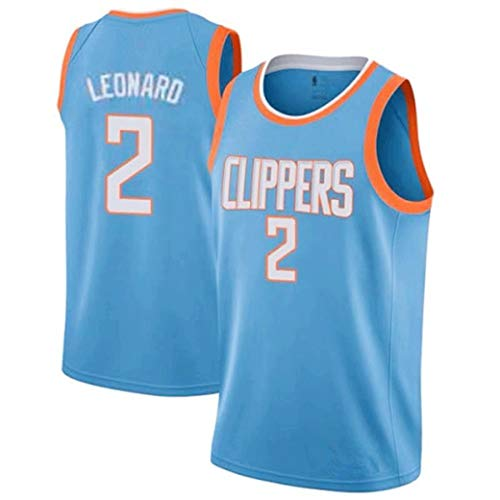 Aojing 2 Kawhi Leonard Los Angeles Clippers Unisex Sleeveless T-Shirt Basketball-Trikot NBA Swingman Jersey City Version (Color : Blue, Size : XS)