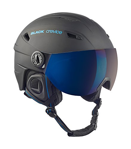Black Crevice Erwachsene Skihelm, Schwarz/Blau, L