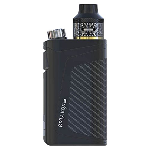 ® RDTA BOX 100W E-Zigarette Vape Mod Box Kit - Alles in Einem Elektronische Zigarette mit GUI/VW/TC/Benutzerdefinierter Benutzermodus 2ml 0.05~0.3 Ohm 2600mAh Akku - Dampfer Kit (Schwarz)