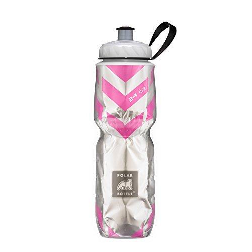 Polar Flasche Isoliert Wasser Flasche (Chevron Pink) (24oz)-100% BPA-frei Wasser Flasche-Perfekte Radfahren oder Wasser Flasche-Spülmaschinen- und gefriergeeignet