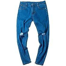 Elecenty Herren Hip Hop Jeanshose Jeans Männer Hosen Hüfthose Denim  Sommerhose Freizeithose Hüftjeans Herrenjeans Leggings a157c1784a