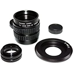 Mondpalast ® CCTV cine Objectifs lentille 35mm F/1.7 + C-M4/3 adaptateur pr Olympus Panasonic