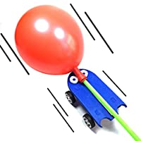 Whiie891203 DIY Balloon Powered Car Vehicle Science Experiment Educational Students Toy for Kids and Adults, Birthday & Christmas Gift