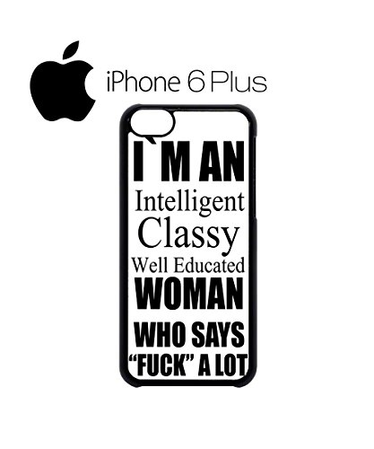Intelligent Classy Well Educated Woman Mobile Cell Phone Case Cover iPhone 5c Black Weiß