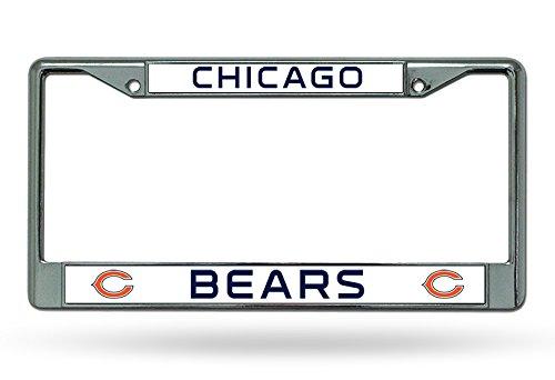 Unbekannt NFL Chicago Bears Chrome Platte Rahmen, 12Zoll von 6, silber