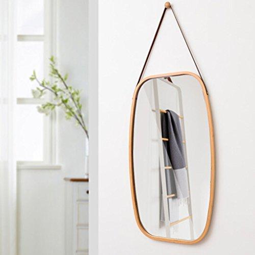 LEI ZE JUN UK- Dekorativer Spiegel bilden elegantes Hauptdekor-Badezimmer-Spiegel-Wand-Spiegel-Eingang imprägniern Retro- Badezimmer-Spiegel Wandspiegel ( Farbe : Holz ) (Holz Spiegel Sunburst)
