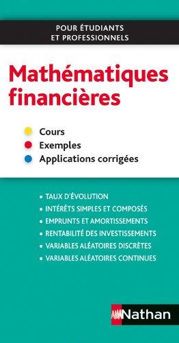 Mathématiques financières par Olivier Le Dantec