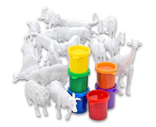 Betzold Tiere Set Zum Selbstgestalten 18 Teilig Blanko Tiere Mit