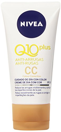 Nivea Q10 Plus Anti-Arrugas - Crema para cuidado de día con color - 50 ml