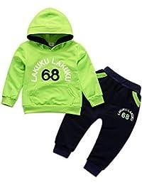 e221311bfc633 Gyratedream Ensemble de Vêtements pour Bébé Garçon Fille Survêtements Sweat  à Capuche T-Shirt Manches