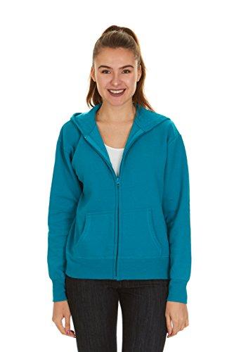 Hanes Women's Full Zip EcoSmart Fleece Hoodie, Dark Aquamarine, M Hanes Womens Sweatshirt