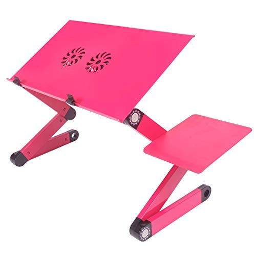 Table De Bureau D'ordinateur Portable avec Dortoir en Aluminium Pliable Simple