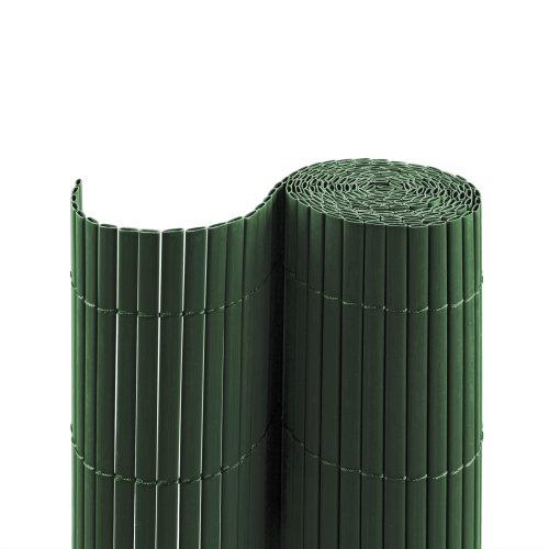 Jarolift Canniccio PVC recinzione paravista per giardino, balcone e terrazza, 120 x 500 cm, verde | simile a RAL 6005