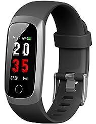 Trswyop Montre Connectée Cardiofréquencemètre, Bracelet Connecté Montre Tension arterielle Podomètre Femme Homme étanche IP67 Sport GPS Smartwatch pour iPhone Samsung Huawei Xiaomi Android iOS