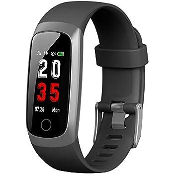 Trswyop Montre Connectée Cardiofréquencemètre, Bracelet Connecté Montre Tension arterielle Podomètre Femme Homme étanche IP67 Sport GPS Smartwatch ...