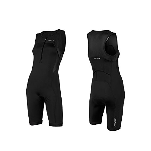 2XU Damen Active Trisuit Triathloneinteiler, Black, L