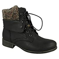 Spot On Womens/Ladies Mid Heel Lace Up Ankle Boots