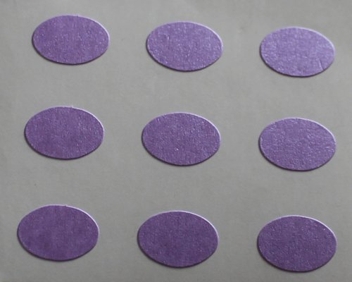 150 Etiquetas, 10x7mm Ovalados, Morado, pegatinas autoadhesivas, Minilabel Formas