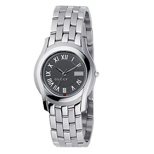 Gucci 5505 Grey Dial Stainless Steel Ladies Watch YA055508
