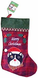 Buttons Cat Luxury Christmas Stocking from Otter House