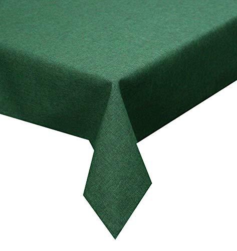 Tischdecke dunkel grün 135cm Rund Lotuseffekt, abwaschbar, Schmutz- und Wasserabweisend, eckig - Größe, Farbe & Form wählbar (Rund Eckig Oval)