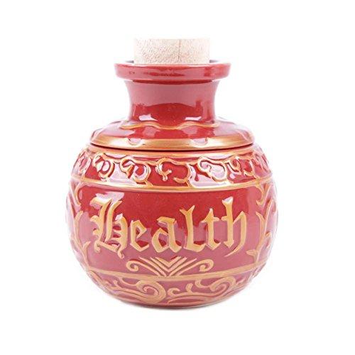 MB-Müller Gaming Becher XXL Extra Groß, 600+ml, epischer Becher Health Potion Mana Tasse Drachenei Keramikbecher mit Deckel und Korken Nerd Tasse (92044-9001-0000) -