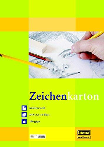 Preisvergleich Produktbild 5 Blöcke Zeichenkarton mit je 10 Blatt / DIN A2 / 190g/m² / Farbe: weiß