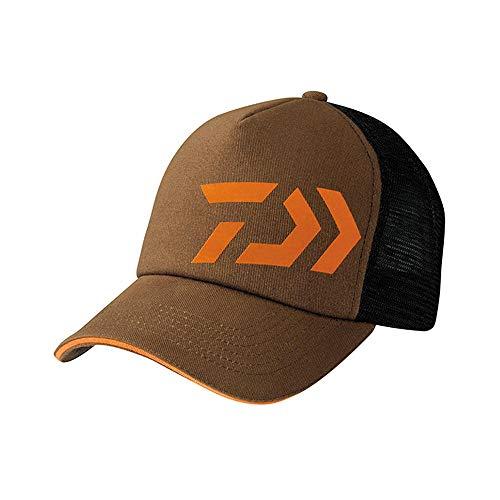 Daiwa Trucker Brown/Orange Cap Dvec-Tr-Br-Or Fishing Clothing Mens Headwear