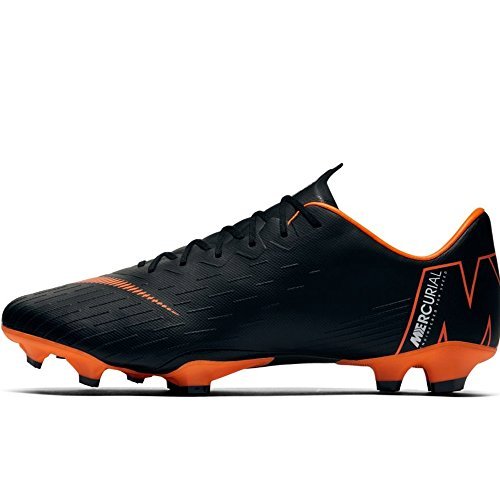 NIKE Men's Mercurial Vapor XII PRO FG Cleats - (Black/White/Orange) (10.5) -