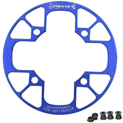 UPANBIKE Kettenblattschutz für Mountainbikes, 104 BCD, Aluminiumlegierung, Kettenblattschutz für 32~34T, 36~38T, 40~42T Kettenblatt-Kettenrad, blau, 32T-34T