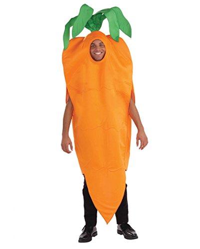 Knackiges oranges Karotten Unisex Kostüm für Gruppen am Straßenkarneval