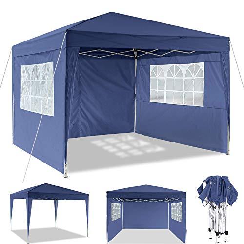 OUTCAMER Pavillon 3x3m/3x6m Pavillon Faltbar Partyzelt Faltpavillon Wasserdicht Gartenpavillon Popup Pavillon mit 4 Seitenteilen für Garten, Terrasse, Party, Markt