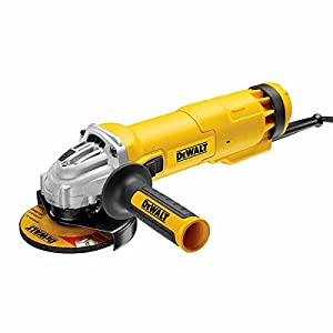 Dewalt DWE4206-LX Mini Angel Grinder with No Volt Release Switch, 1010 W, 110 V, Black/Yellow, 115 mm
