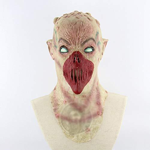 TYXHZL Halloween Alien Mund geformt ekelhaft Horror Halloween Spukhaus Zimmer entkommen verkleiden Sich Live Scary Maske