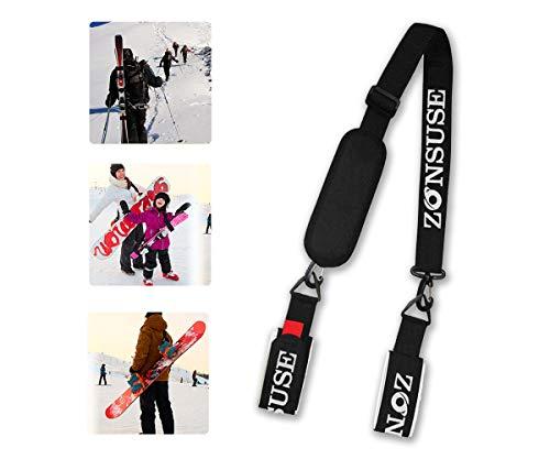 Ski-Schultergurte,Ski Strap,Verstellbar Ski-Band für Skier,Snowboard,Skistöcke, Skischuhe,Winter Ski Zubehör,für leichten Transport,Reise und Aufbewahrung,Arbeitsersparnis,für Kinder, Herren und Damen