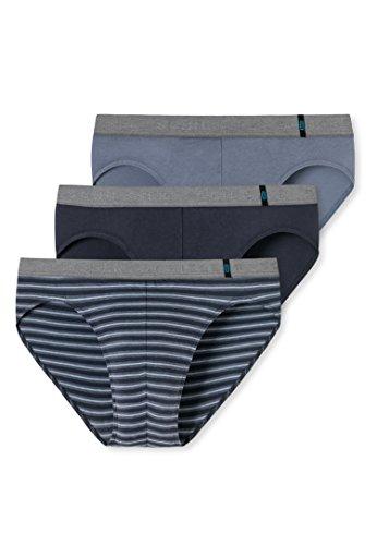 Schiesser Herren 95/5 Rio-Slip (3er Pack), 3er Pack, Grau (Graublau 209), Small (Herstellergröße 004)