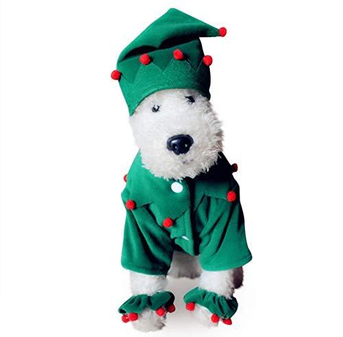 tierende Teleskop-Traktionsgürtel Weihnachten Alter Mann Hund Kleid Halloween Pet Kleidung Lustige Jacke Jacke Kostüm Halloween Little Pet ()