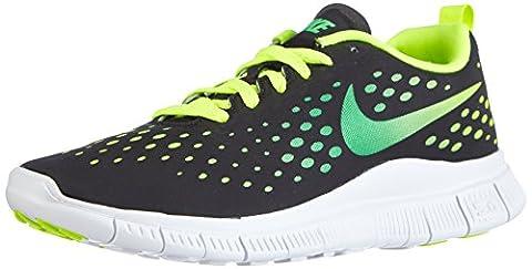 Nike Free Express, Basket Sneaker Mixte Enfant - Noir (black/light Green Spark-volt-white), 38 EU