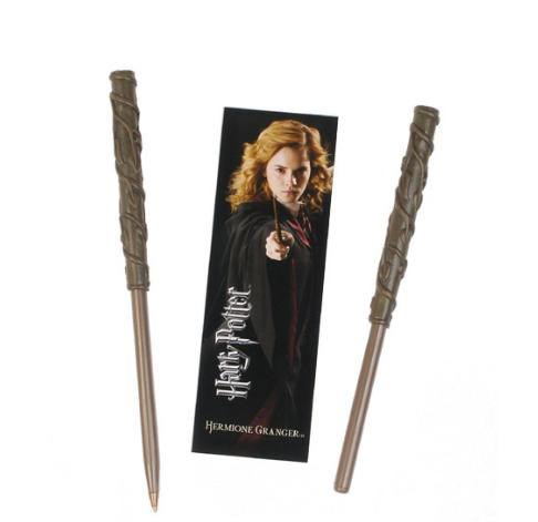 Harry-Potter-Hermione-pen-and-bookmark-set-accesorio-de-disfraz