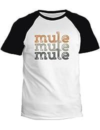 Idakoos Mule repeat retro - Animaux - T-Shirt Raglan