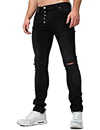 TAZZIO Herren Styles Destroyed Jeans Slim Fit Jeans 16512