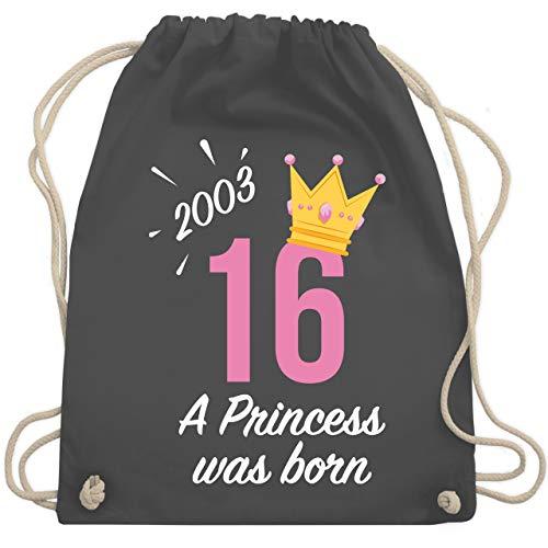 rtstag Mädchen Princess 2003 - Unisize - Dunkelgrau - WM110 - Turnbeutel & Gym Bag ()