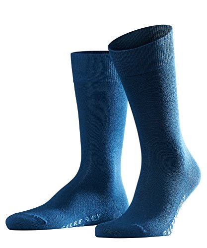 FALKE Herren Family Socken, Blickdicht, royal blue, 47-50
