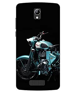 Case Cover Bike Printed Blue Soft Back Cover For LYF WIND 3